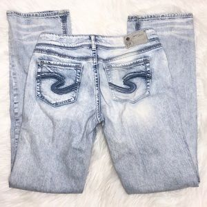 Silver Suki Slim Boot Size 29 In Light Wash